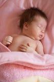 Sleep baby. Little newborn, baby a sleep, portrait of little girl Royalty Free Stock Photos