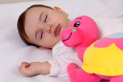 Sleep baby girl Royalty Free Stock Photo