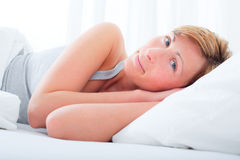 Sleep bed Stock Image