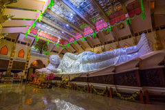 Sleep Buddha statue in Temple Stock Images