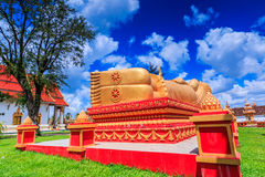 Sleep buddha in temple Vientiane, Laos , They are public domain stock photography