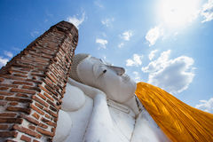 Sleep Buddha in thailand. Sleep Buddha is respect for people in thailand Royalty Free Stock Photo