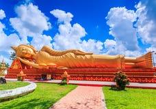 Sleep buddha at Wat Thap Luang, Laos royalty free stock photo