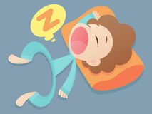 Sleep. Cartoon  illustration. Character design Royalty Free Stock Photography