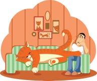 Sleep Cat royalty free illustration