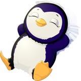 Sleep cute penguin Stock Photos