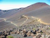 Sleep in de vulkaan van HaleakalÄ , Maui, Hawaï Stock Afbeeldingen