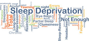 Sleep deprivation background concept Royalty Free Stock Photo