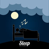 Sleep design Stock Image