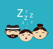 Sleep design Stock Photo