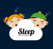 Sleep design Royalty Free Stock Image