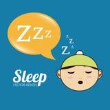 Sleep design Royalty Free Stock Images