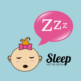 Sleep design Royalty Free Stock Photo