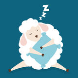 Sleep design. Sleep design over blue background, vector illustration Royalty Free Stock Photo