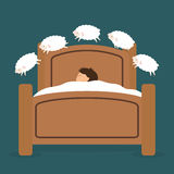 Sleep design. Sleep design over blue background, vector illustration Royalty Free Stock Image