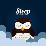 Sleep design Stock Photography
