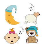 Sleep design Royalty Free Stock Photos