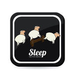 Sleep design Royalty Free Stock Photography