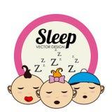 Sleep design Stock Photography