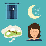 Sleep design. Sleep design over white background, vector illustration Royalty Free Stock Photography