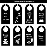 Sleep Door Hangers vector illustration
