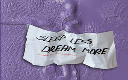 Sleep less and dream more Royalty Free Stock Images