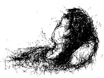 Sleep girl woman Royalty Free Stock Image