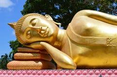 Sleep gold buhda stock photos