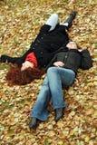 Sleep on ground Royalty Free Stock Images