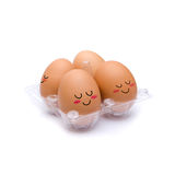 Sleep with happiness  brown eggs Stock Image