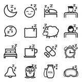 Sleep  icon Set Royalty Free Stock Photography
