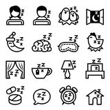 Sleep icon set Royalty Free Stock Photo