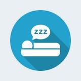 Sleep icon. Vector illustration of sleep icon Stock Image