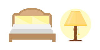 Sleep icons bed set lamp vector illustration set collection nap icon relax bedtime. Sleep bed icons set dream healthy lifestyle. Bedroom rest collection sleep Royalty Free Stock Image