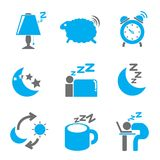 Sleep icons Stock Photography