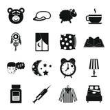 Sleep icons set, simple style Stock Photo