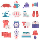 Sleep icons vector set. Royalty Free Stock Photo