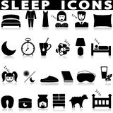 Sleep icons. Vector Illustration