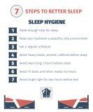 Sleep infographic Stock Photo