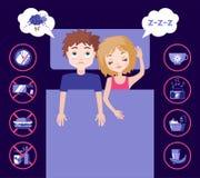 Sleep and insomnia concept. Stock Photos
