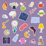 Sleep and insomnia elements. Set of colorful  sleep and insomnia icon Stock Photo