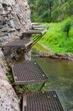 Sleep langs de Hornad-rivier, Slowaaks Paradijs royalty-vrije stock foto