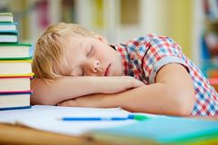 Sleep after learning Royalty Free Stock Images