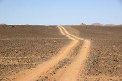 Sleep in Libische woestijn royalty-vrije stock foto's