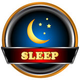 Sleep logo. In unique style on a black background Stock Image