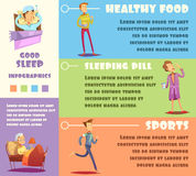 Sleep Man Infographic Royalty Free Stock Images