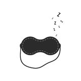 Sleep mask with snoring sign Royalty Free Stock Photography