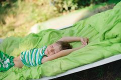 Sleep on nature Royalty Free Stock Photos