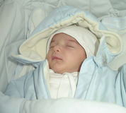 Sleep new-born Stock Photography
