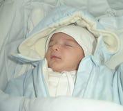 Sleep new-born. Sleep new born, sweet child Stock Photography